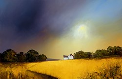Sweeping Skies by Barry Hilton - Embellished Canvas on Board sized 26x17 inches. Available from Whitewall Galleries