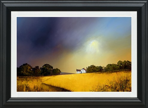 Sweeping Skies by Barry Hilton - Framed Embellished Canvas on Board